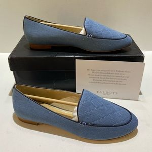 Talbots RYAN LOAFERS QUILTED DENIM woman's 8